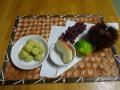 お月見団子: お団子は子どもたちの大好きなサツマイモを使い、仕上げにみたらしのたれをかけていただきました。