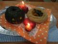 カボチャの蒸しパンケーキ