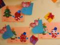 こぐまっ子のクリスマス: 作品に負けないぐらい、手形も個性的でしょ?