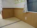 壁も張り替えてきれいになりました。何だか保育室が広くなったような感じがして不思議です。