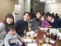近くの中華レストランでお祝いの会を開きました。みんな大きくなりましたね。