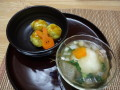 「さつま芋団子」と「だまこ汁風」