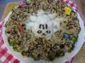 ネコのおにぎりのご飯ケーキ