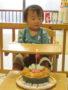 ケーキ、美味しかったよ。1歳おめでとう!