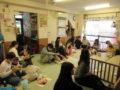 子ども達の大好きな焼き芋や煮リンゴを食べました!