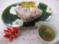 赤飯・鯛の潮汁・フルーツポンチ