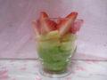 苺・リンゴ・グリンピースの寒天寄せ