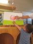 パネルシアターは絵本『りんごがドスーン』でした。