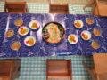 テーブルもキラキラ星空!