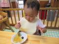 日に日に上手に食べられるようになります!