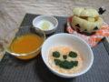 ひよこ組 ニンジン粥&カボチャスープ